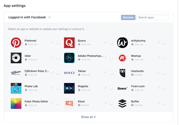 Facebook has launched a new tool to remove multiple apps at the same time.